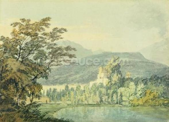Sir William Hamiltons Villa, c.1795 (w/c over pencil on paper) wall mural