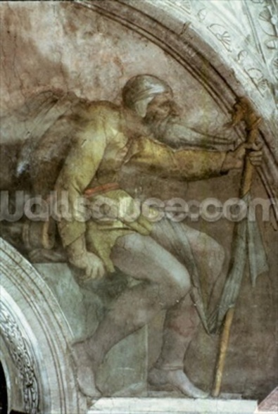 Sistine Chapel Ceiling: One of the Ancestors of God mural wallpaper