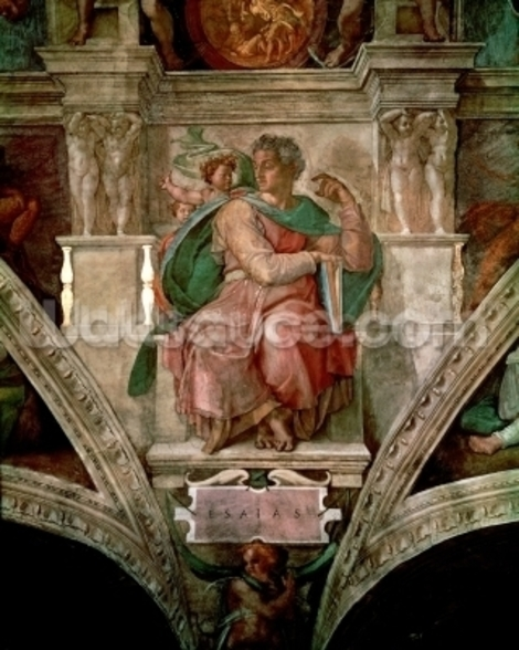 Sistine Chapel Ceiling: The Prophet Isaiah (fresco) wallpaper mural