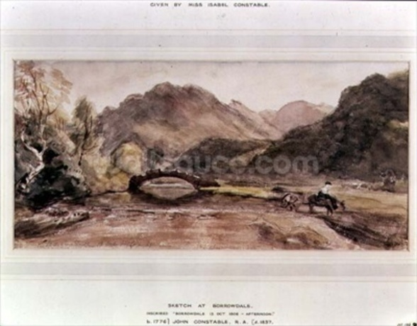 Sketch of Borrowdale, 1806, Afternoon wall mural