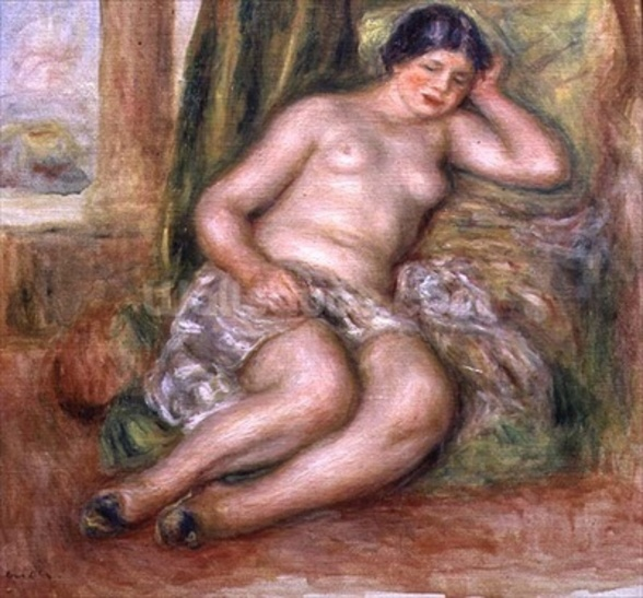 Sleeping Odalisque, or Odalisque in Turkish Slippers, c.1915-17 (oil on canvas) mural wallpaper