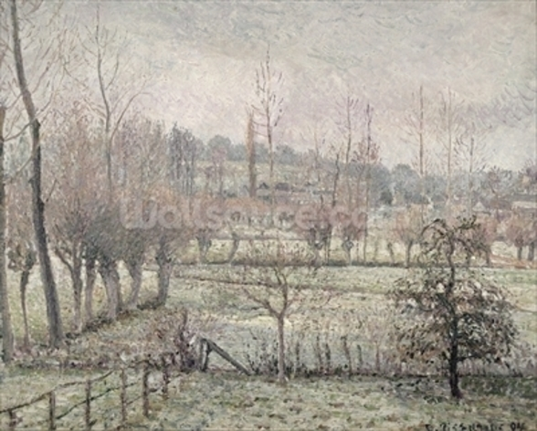 Snow Effect at Eragny, 1894 (oil on canvas) wallpaper mural