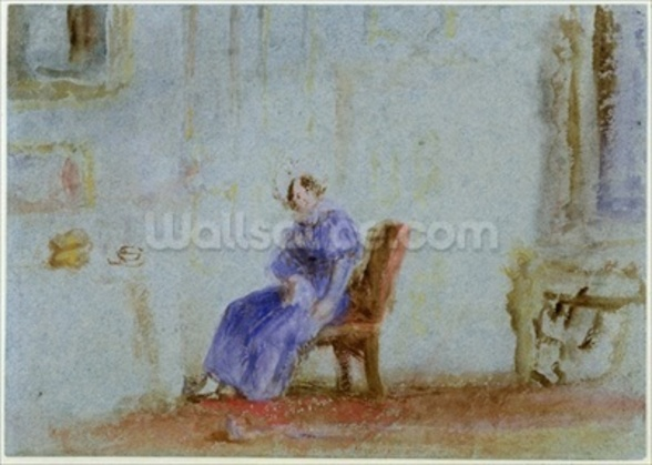 Spilt Milk, c.1828 (w/c and gouache) wall mural