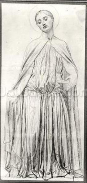 St. Adelaide, 1842 (graphite) (b/w photo) wall mural