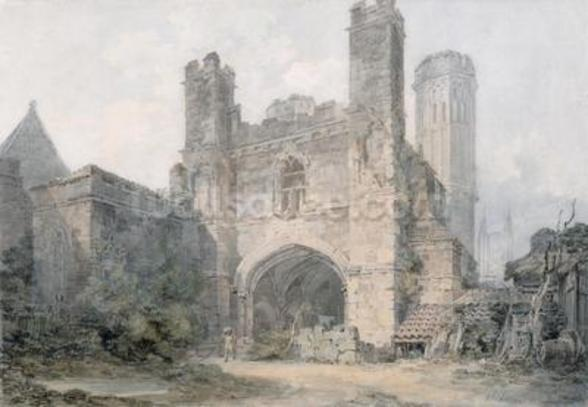 St. Augustines Gate, Canterbury, c.1797 (w/c over pencil on wove paper) wall mural
