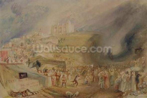 St. Catherines Hill, Guildford, Surrey, 1830 (w/c and graphite on paper) wallpaper mural