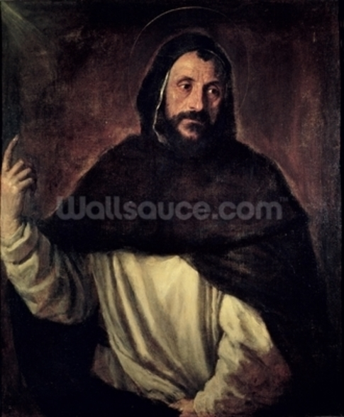 St. Dominic (1170-1221) (oil on canvas) wall mural
