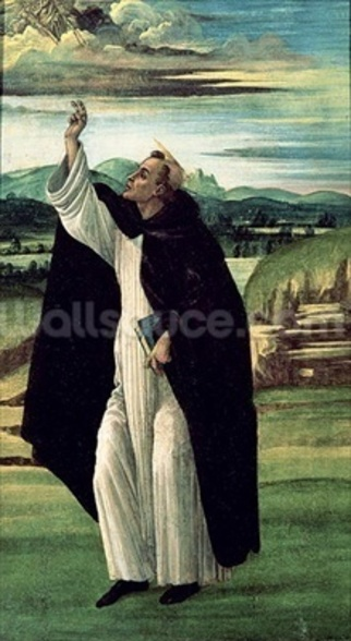 St. Dominic, c.1498-1505 (tempera on canvas) wall mural