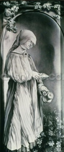 St. Elizabeth (grisaille) wall mural