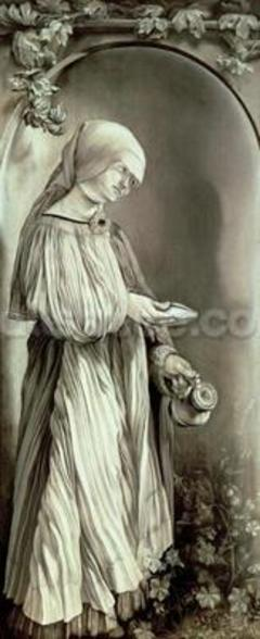 St. Elizabeth of Hungary (1207-31) 1509 (grisaille) wall mural