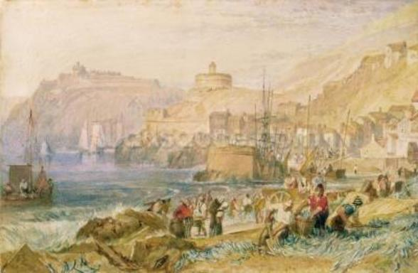St. Mawes, Cornwall, c.1823 (w/c on paper) mural wallpaper