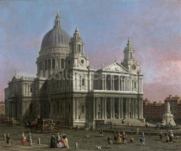 St. Pauls Cathedral, 1754 (oil on canvas) wall mural