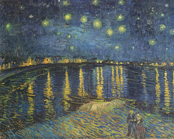Starry Night over the Rhone, 1888 (oil on canvas) wall mural