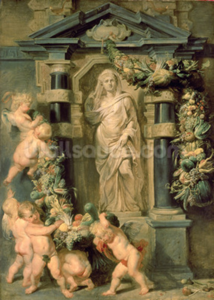 Statue of Ceres, c.1615 (oil on panel) wall mural