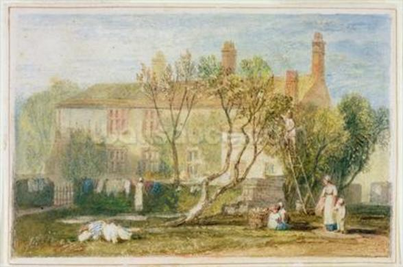 Steeton Manor House, near Farnley, c.1815-18 (w/c on paper) wall mural