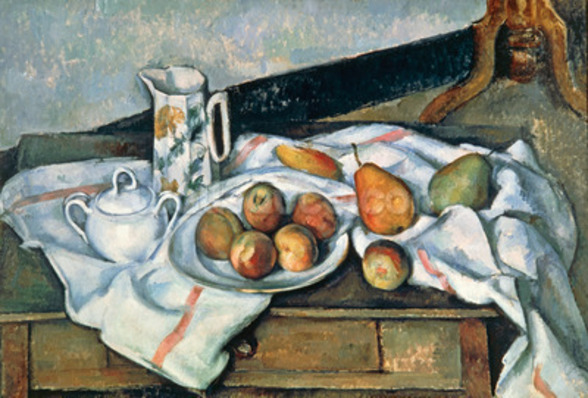 Still Life of Peaches and Pears, 1888-90 (oil on canvas) mural wallpaper