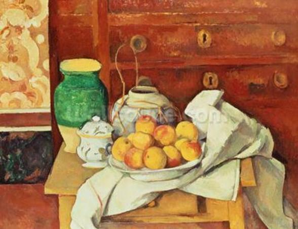 Still Life with a Chest of Drawers, 1883-87 (oil on canvas) wall mural