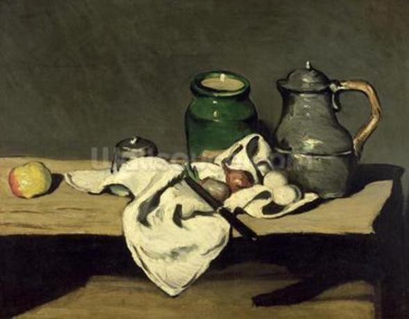 Still Life with a Kettle, c.1869 (oil on canvas) wallpaper mural