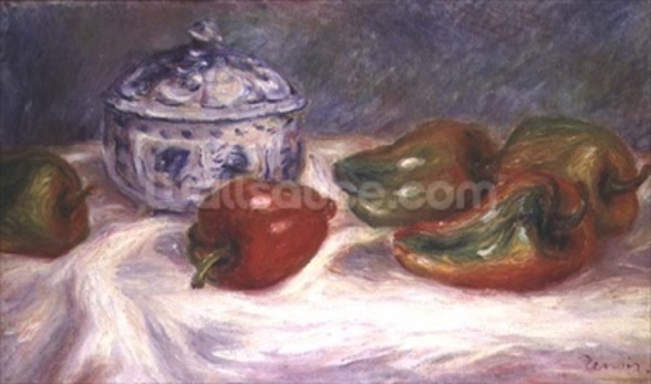 Still life with a sugar bowl and red peppers, c.1905 wall mural
