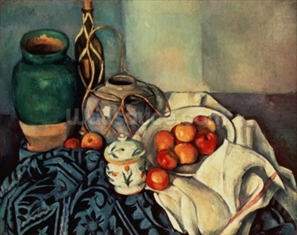 Still Life with Apples, 1893-94 (oil on canvas) wall mural