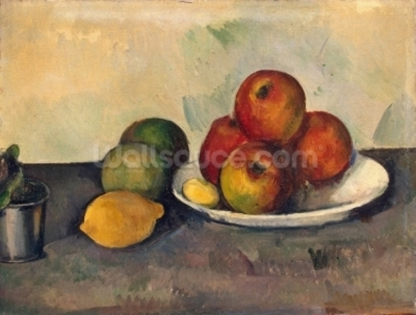 Still life with Apples, c.1890 (oil on canvas) wall mural