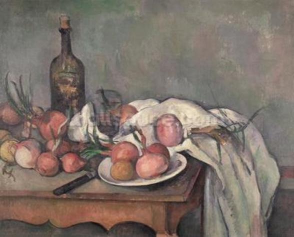 Still Life with Onions, c.1895 (oil on canvas) wall mural