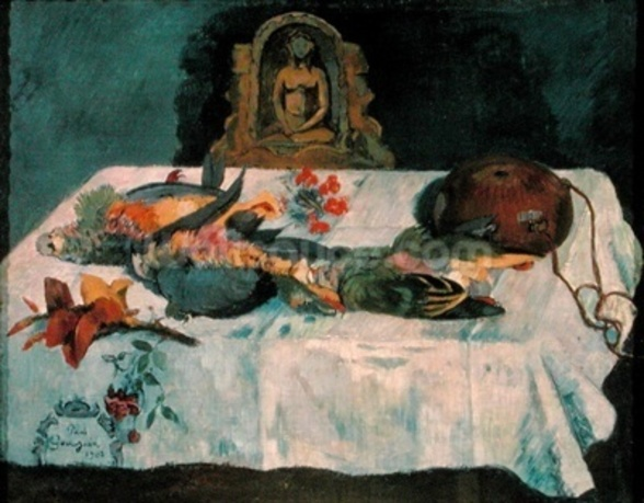 Still Life with Parrots, 1902 (oil on canvas) wallpaper mural