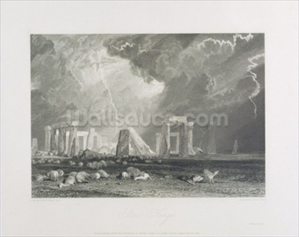 Stone Henge, 1829 (etching & engraving) wall mural