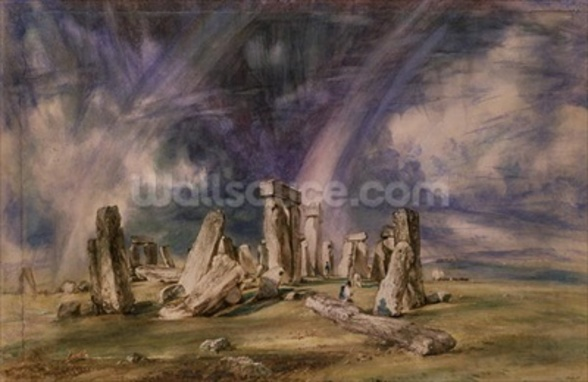 Stonehenge, 1835 (w/c on paper) wall mural