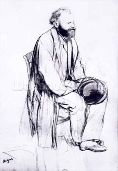 Study for a portrait of Manet (black chalk) wall mural