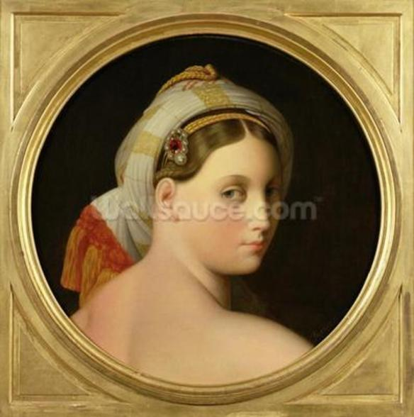 Study for an Odalisque (oil on canvas) mural wallpaper