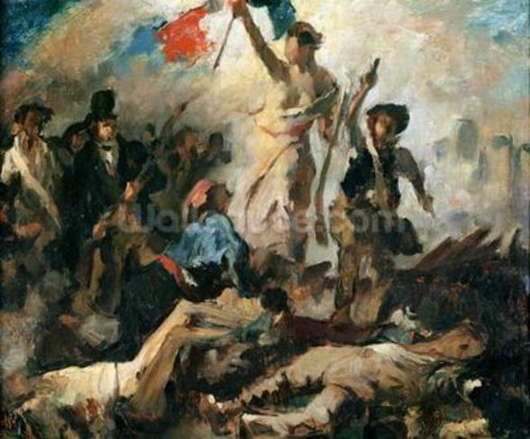 Study for Liberty Leading the People (oil on canvas) mural wallpaper