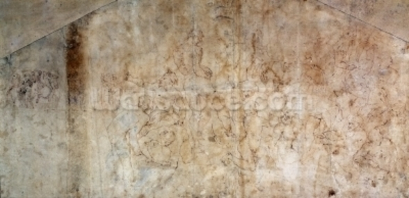 Study for the Battle of Cascina 1504 (brown ink on paper) (recto) wall mural