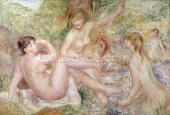 Study for the Large Bathers, 1885-1901 (oil on canvas) wall mural