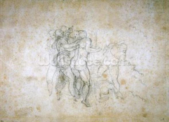 Study for the Last Judgement (graphite on paper) wall mural