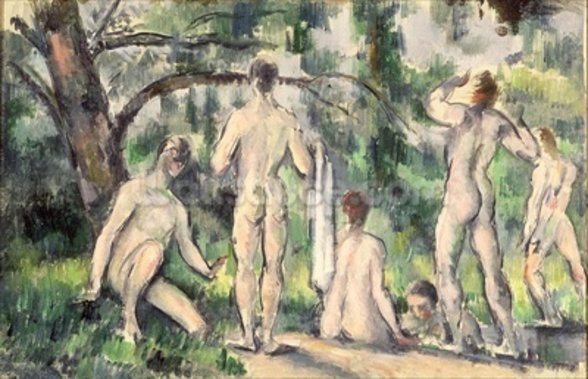 Study of Bathers, c.1895-98 (oil on canvas) wall mural