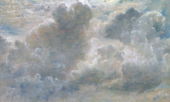 Study of Cumulus Clouds, 1822 (oil on paper laid on canvas) wall mural