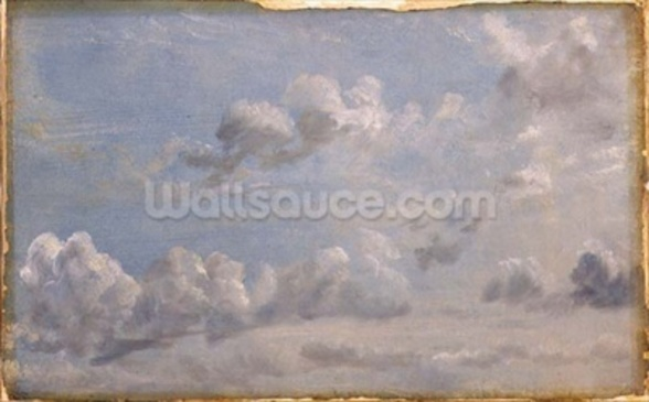 Study of Cumulus Clouds, 1822 (oil on paper laid down on panel) wallpaper mural