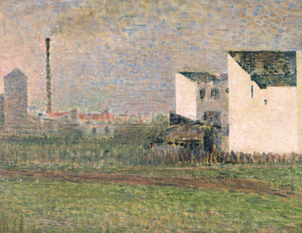 Suburb, c.1882 (oil on canvas) mural wallpaper