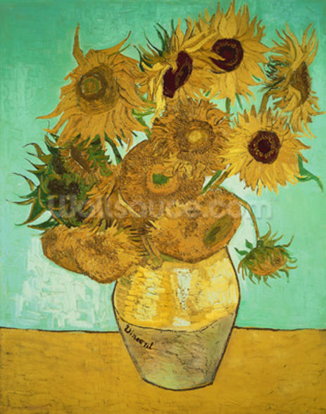 Sunflowers, 1888 (oil on canvas) mural wallpaper
