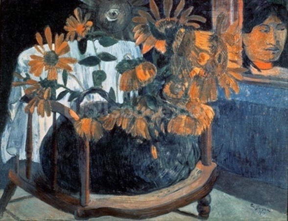 Sunflowers, 1901 wall mural