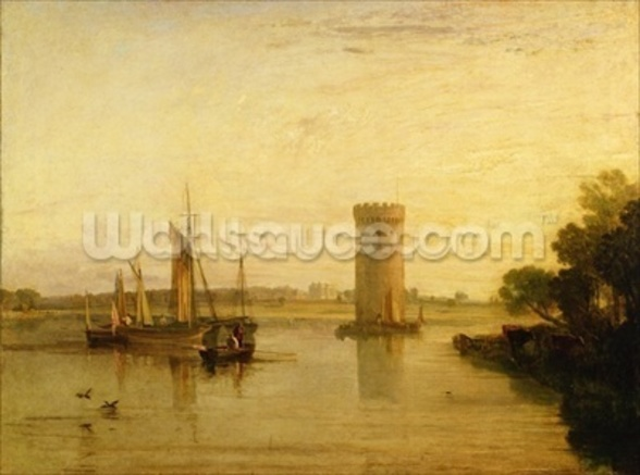 Tabley, the Seat of Sir J.F. Leicester, Bart.: Calm Morning, c.1809 wall mural