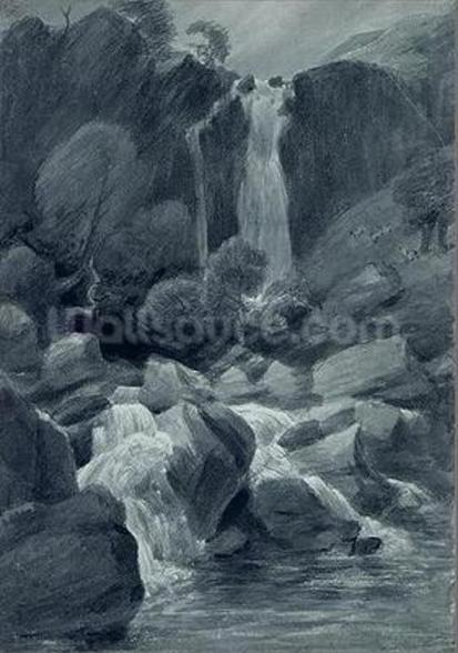 Taylor Ghyll, Sty Head, Borrowdale, 1806 (w/c on paper) wall mural
