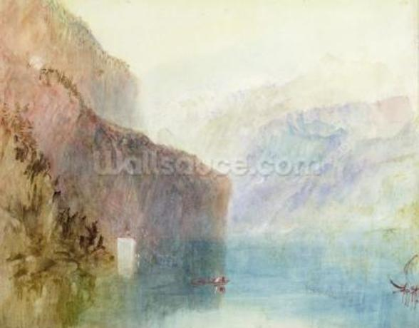 Tells Chapel, Lake Lucerne, c.1841 (w/c with pen on paper) wall mural