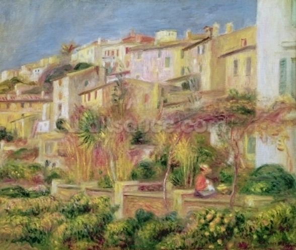 Terrace in Cagnes, 1905 (oil on canvas) wallpaper mural