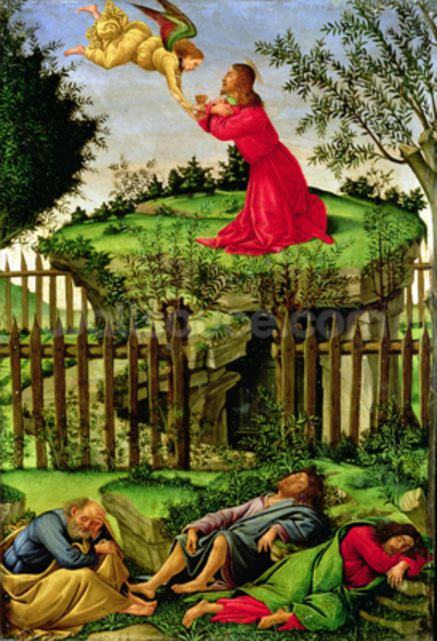 The Agony in the Garden, c.1500 (oil on canvas) wall mural
