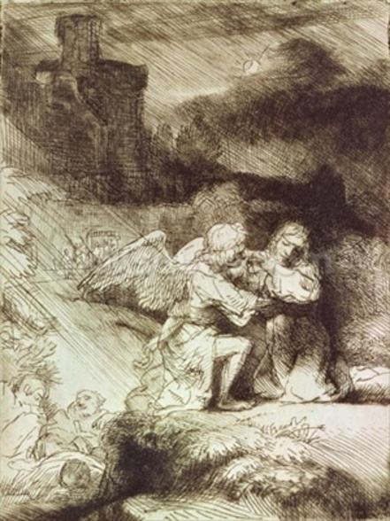 The Agony in the Garden (etching) wall mural