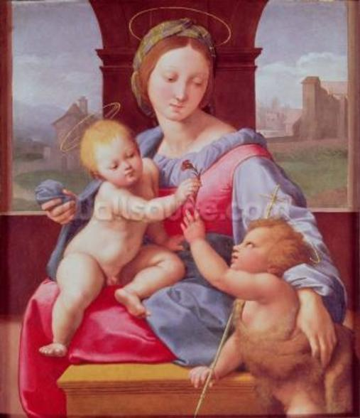 The Aldobrandini Madonna or The Garvagh Madonna (oil on panel), c.1509-10 wall mural