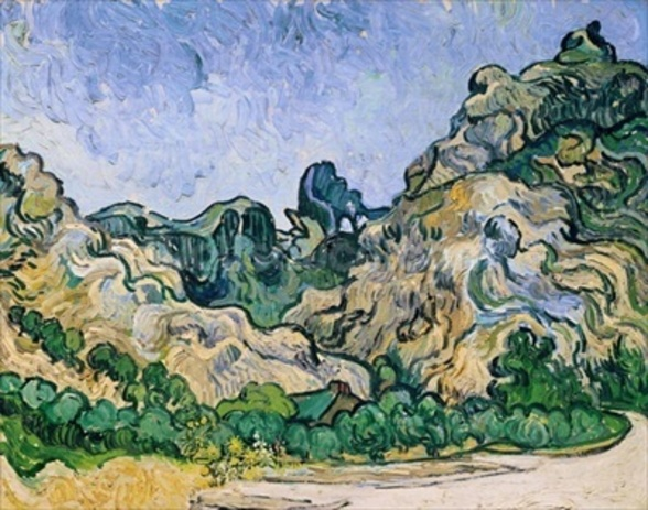 The Alpilles, 1889 (oil on canvas) mural wallpaper