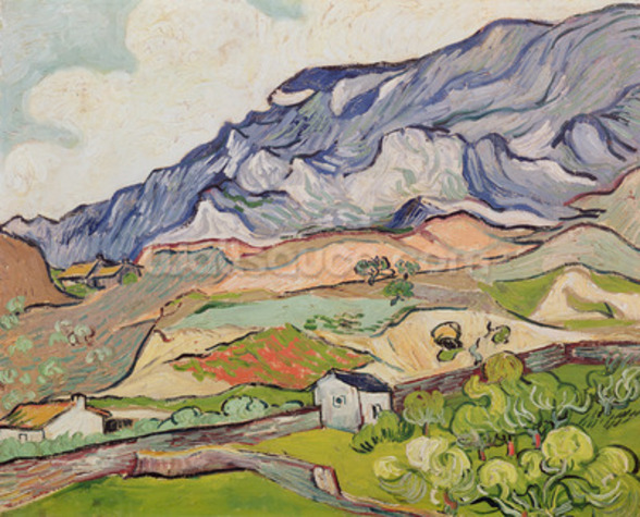 The Alpilles, 1890 (oil on canvas) wall mural
